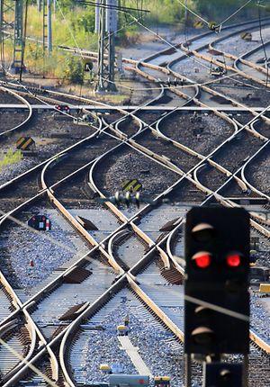 Weichen und Gleisverbindungen im Nürnberger Rbf