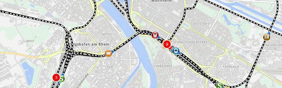 DB LiveMaps train radar – your rail transport train monitor in real on