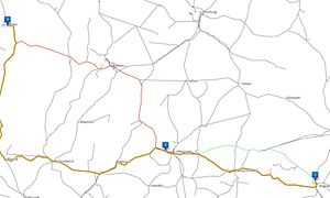 Screenshot aus dem Trassenfinder