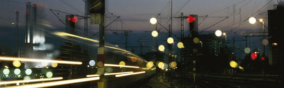 Lichtsignale im Bahnhofsvorfeld Berlin Ostbahnhof