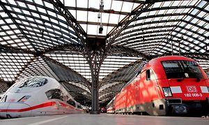 ICE und E-Lok, Deutsche Bahn