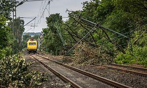 Schäden an den betrieblichen Anlagen durch ein verheerendes Unwetter