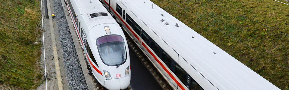 Eisenbahnstrecke zwischen Erfurt und Halle/Leipzig