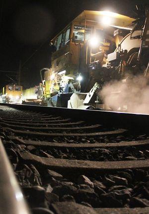 Fürth - Nürnberg, nächtliche Gleisbauarbeiten