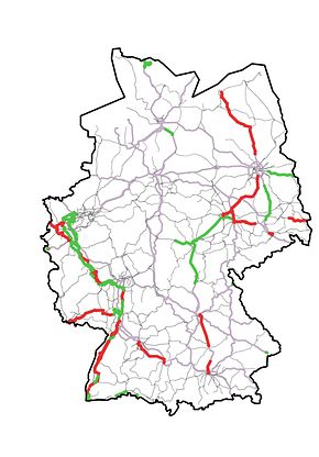 Abb. 1: Kartendarstellung der ETCS-Strecken in Betrieb bis 2023