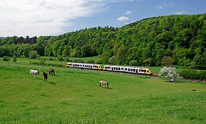 HLB nach Limburg bei Aumenau Lahntal