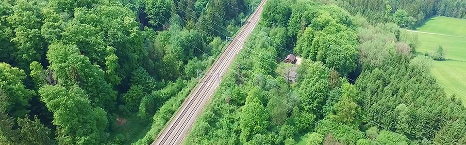 Gleise aus der Luft